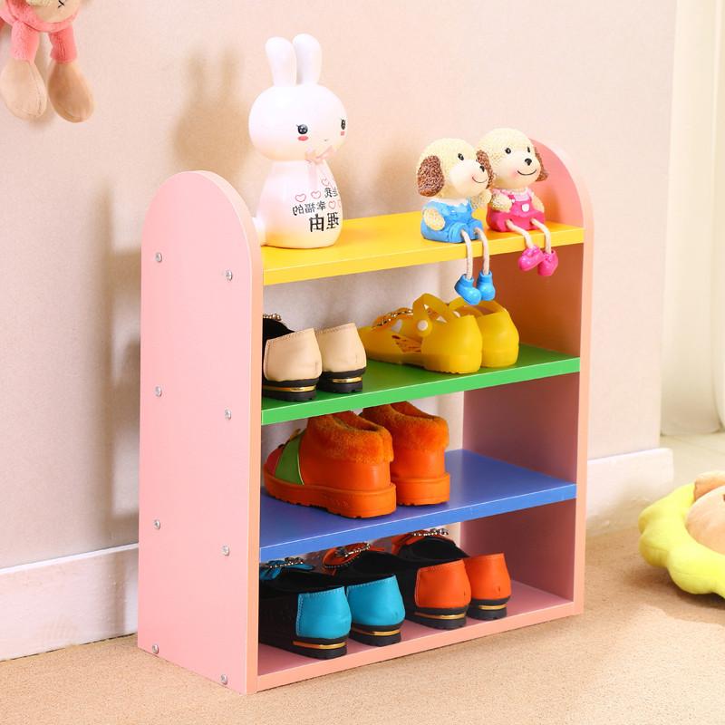 多彩可爱儿童鞋架组合收纳架鞋柜储物收纳置物架特价包邮