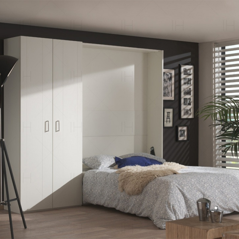 隐形床壁床多功能折叠小户型客厅创意空间收纳五金配件电动衣柜床图片