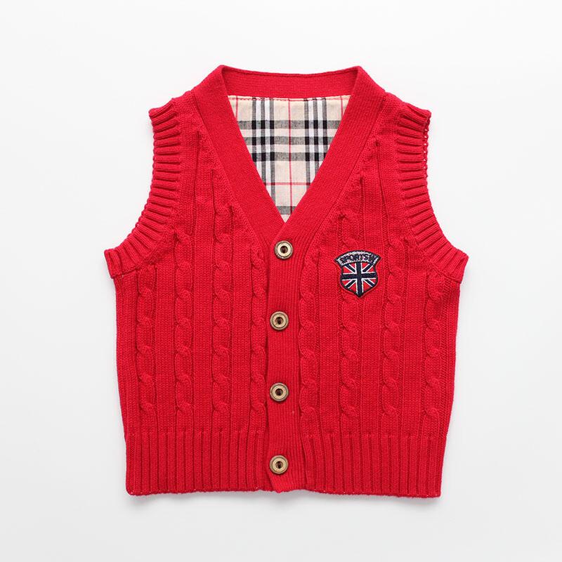 秋季新款男童马甲儿童针织开衫背心婴儿毛线马夹宝宝线坎肩潮l