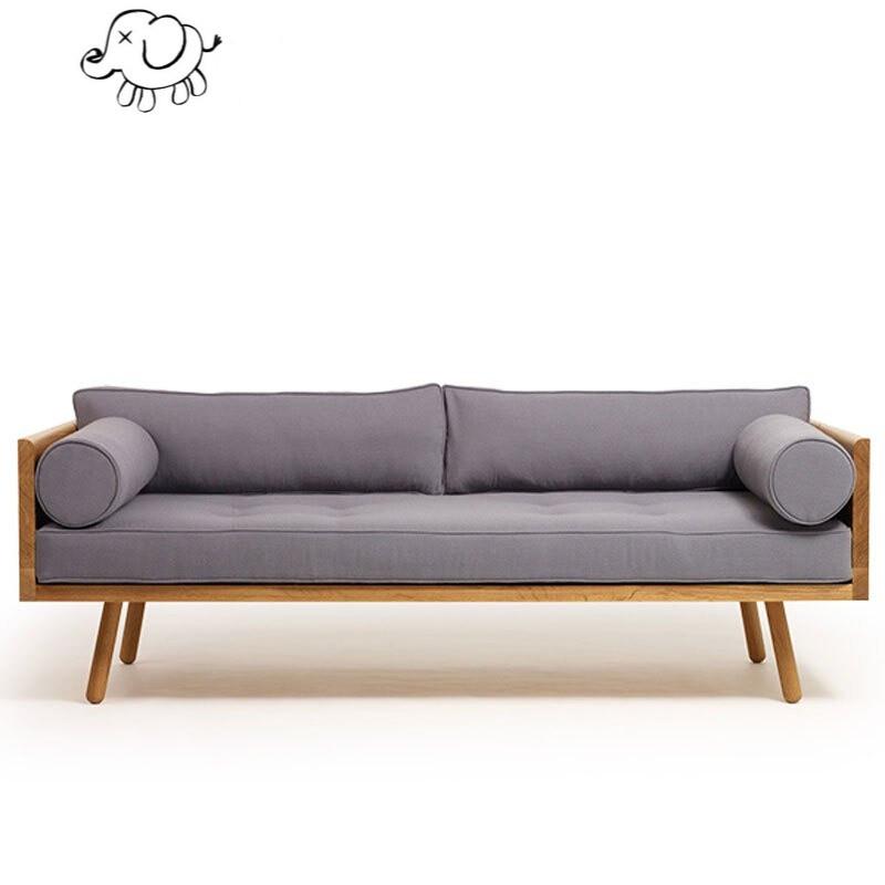 牧马人北欧实木布艺沙发组合可拆洗布沙发小户型双人三人日式沙发三人