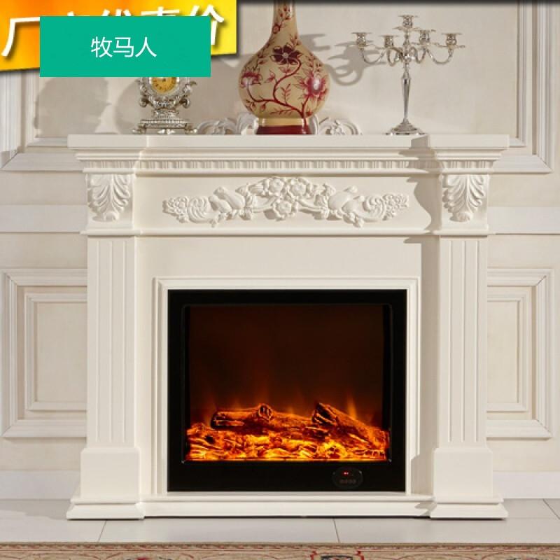 2米欧式实木壁炉美式装饰柜火炉架定做取暖电炉芯图片