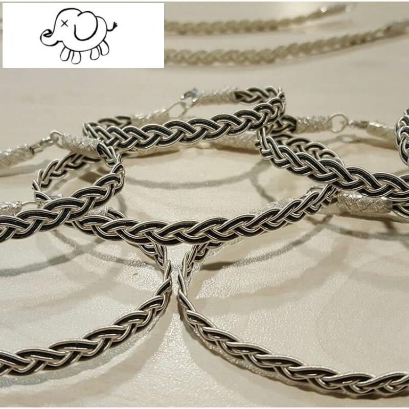土耳其手工编织s999纯银丝手链男女简约独特信物礼物个性元旦