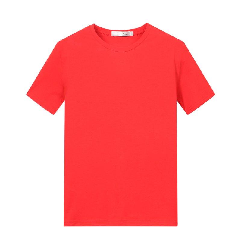 2018夏季新品短t男本命年大红色短袖t恤