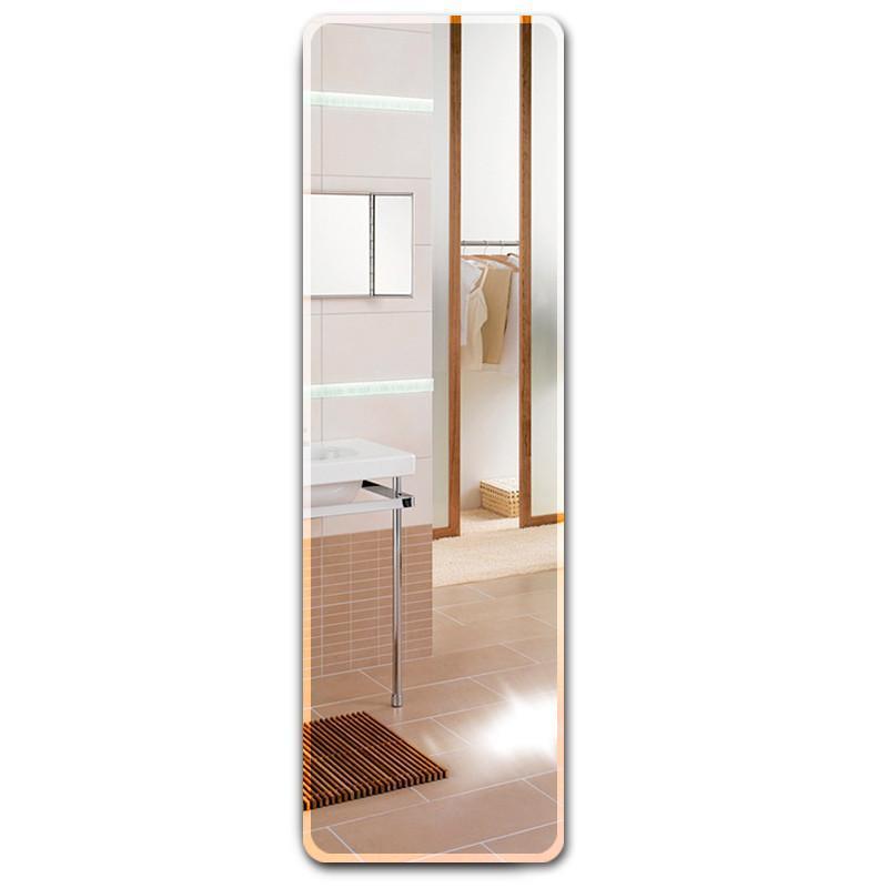 防爆全身镜粘贴穿衣镜壁挂简约无框镜试衣镜家用卧室贴墙镜子