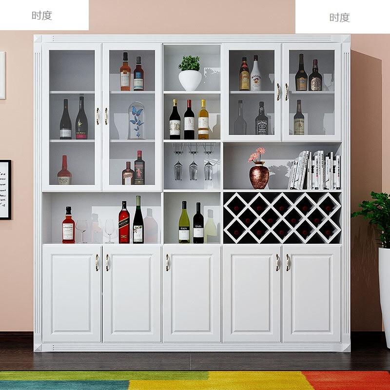 时度欧式酒柜玻璃门餐边柜酒柜定制罗马柱简欧酒柜简约现代
