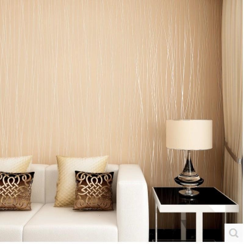 无纺布墙纸 现代简约条纹 素色 客厅卧室电视背景墙 月光森林壁纸