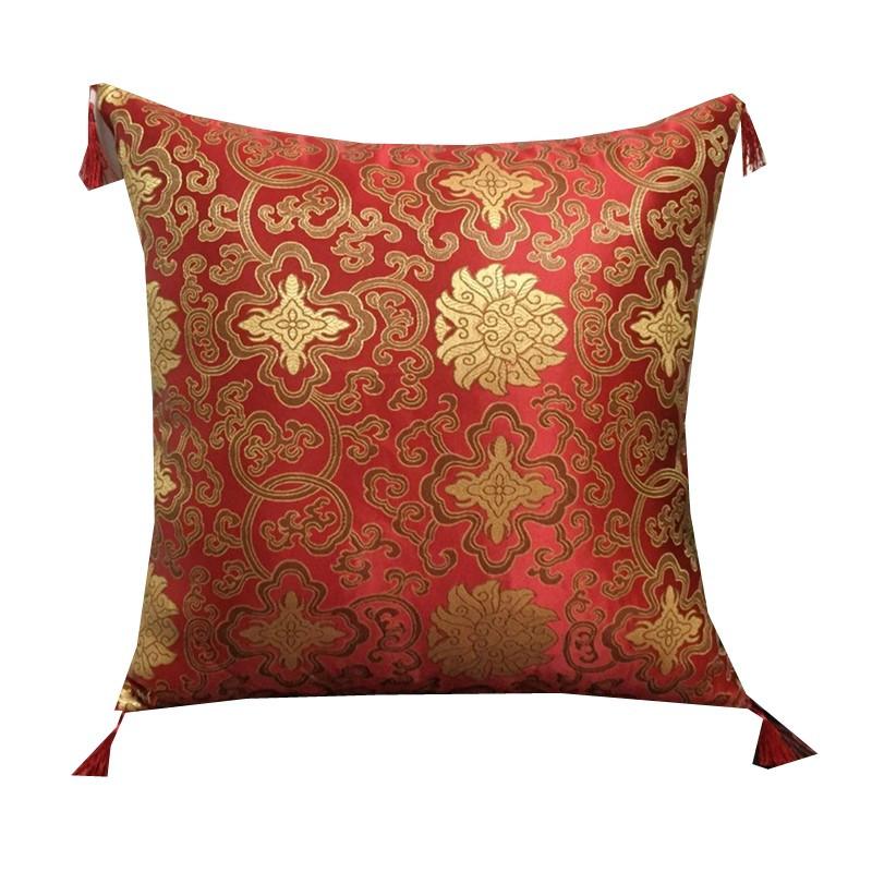 中式抱枕福字靠垫复古典婚庆喜庆红木沙发靠枕办公室汽车腰枕含芯图片