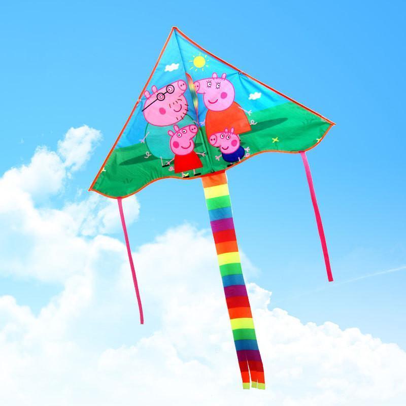 风筝 中弯边风筝 儿童卡通风筝 三角多图案风筝