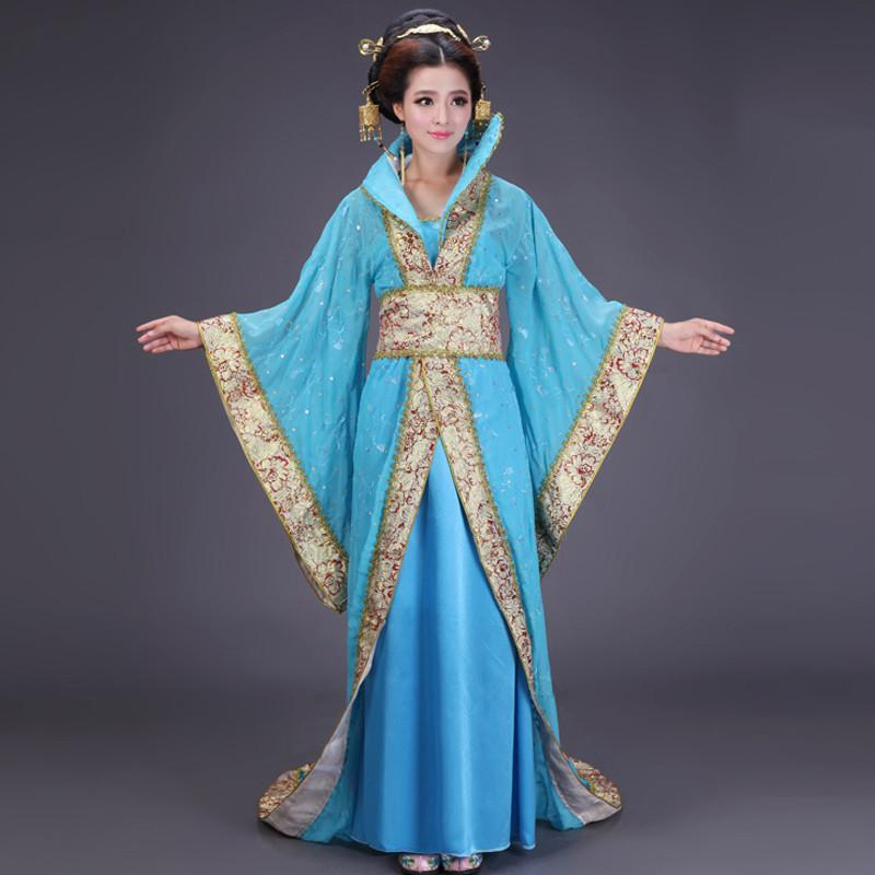 cos七夕女士嫦娥古装服装仙女大明名公主唐装汉服女贵妃皇后拖尾