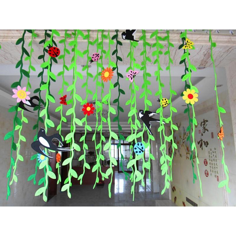 幼儿园装饰 教室走廊环境布置 商场店铺空中吊饰挂饰柳条燕子套装
