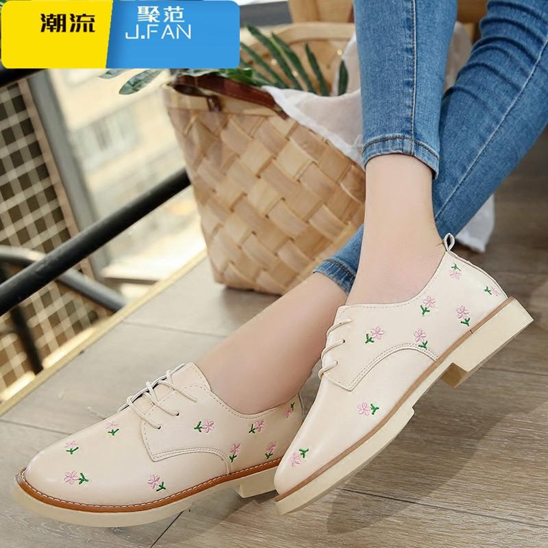 潮流女鞋单鞋女平底新款软妹女鞋英伦风小皮鞋女学生韩版百搭休闲鞋子