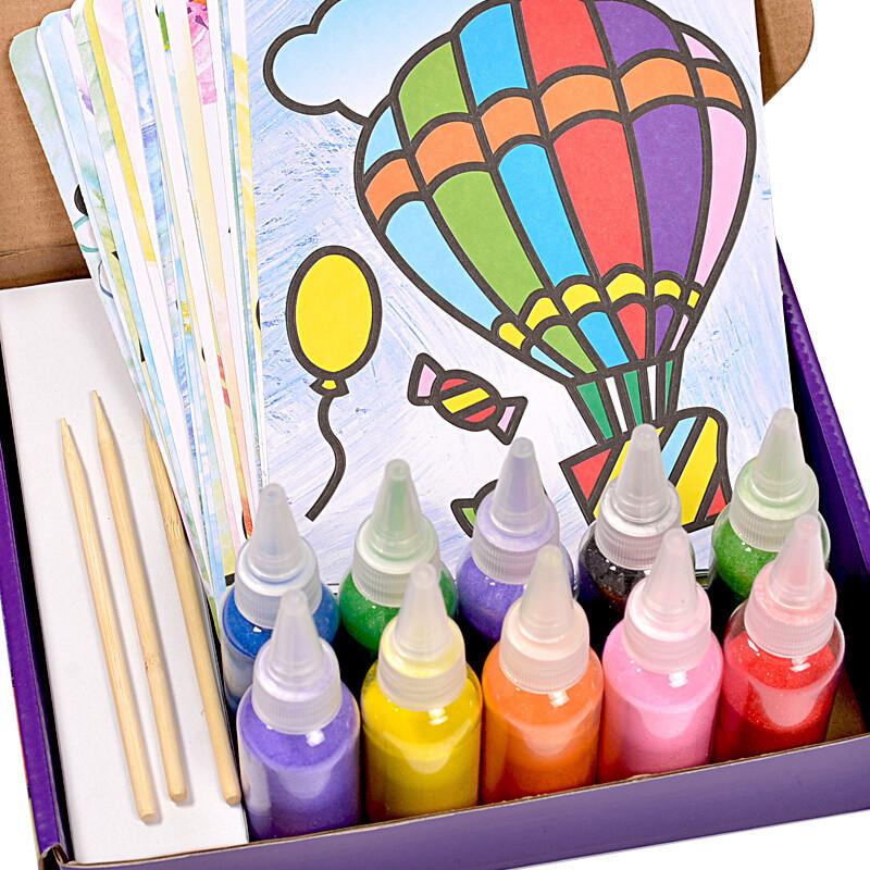 胶画套装儿童玩具diy画沙画工具手工制作