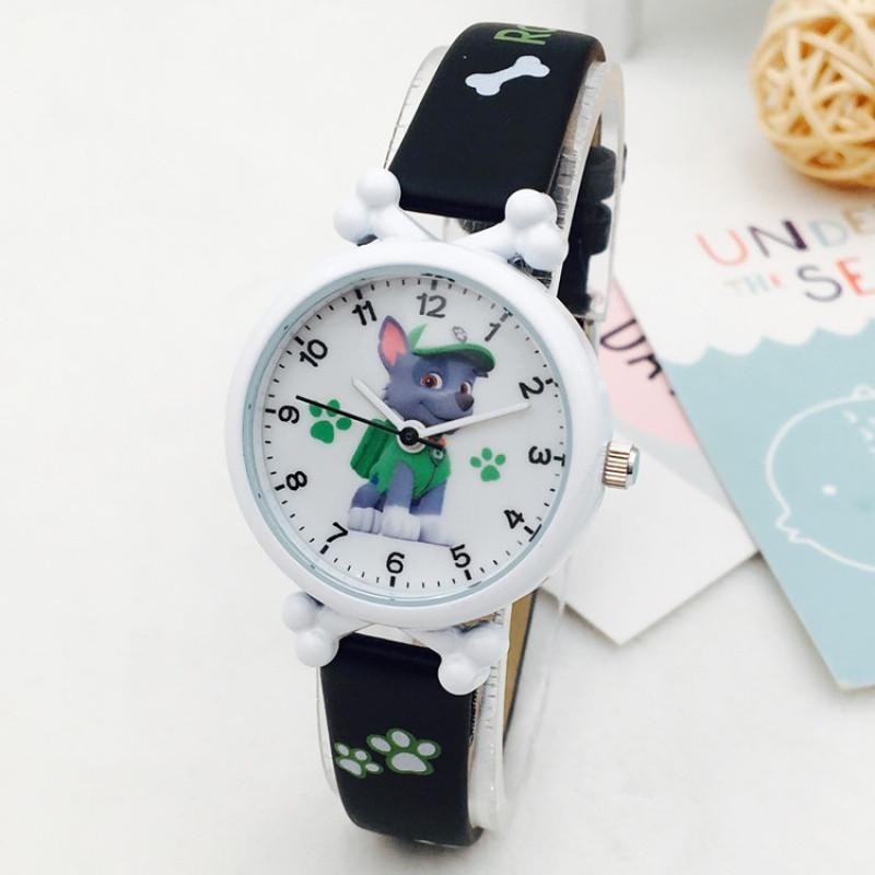 儿童皮带手表男孩女孩电子防水表卡通旺旺队小学生男女童石英手表