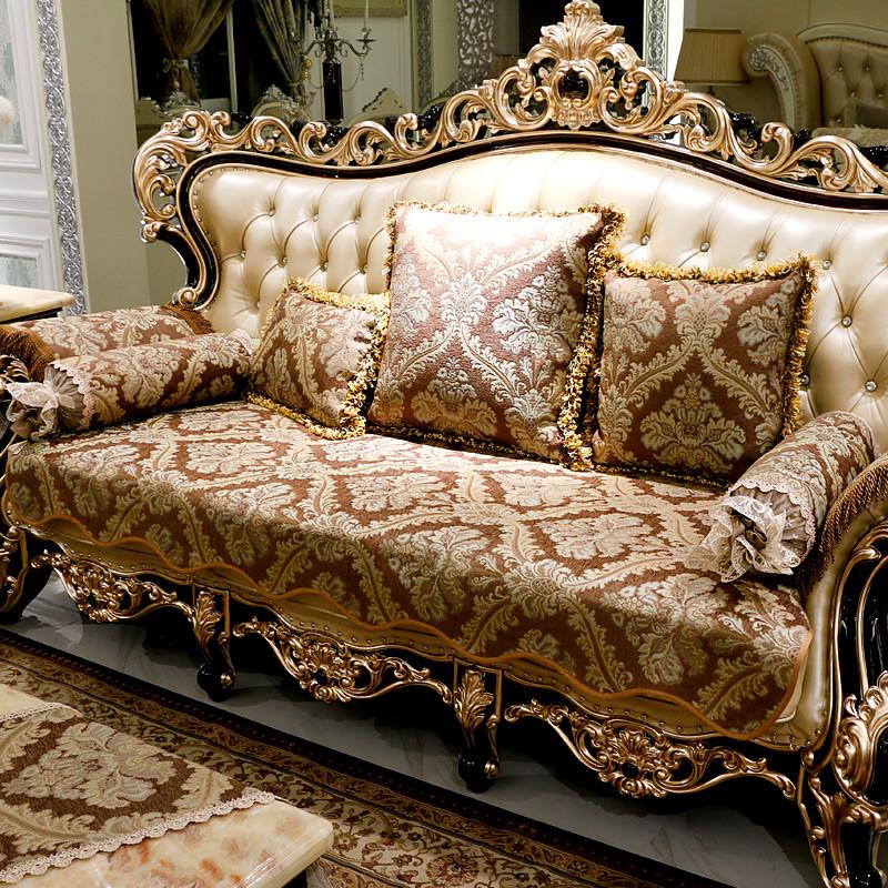 沙发垫欧式四季通用布艺防滑坐垫客厅美式123组合垫子套罩冬