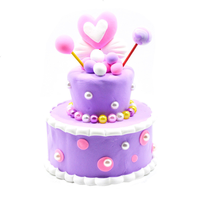 儿童手工diy制作玩具模具 超轻粘土彩色橡皮泥奶油蛋糕材料包套装