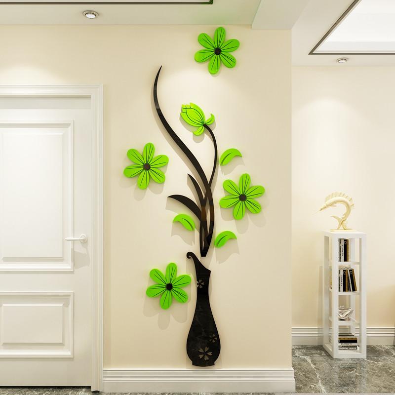 亚克力3d立体墙贴房间客厅电视沙发背景墙面装饰品贴纸贴画新年画
