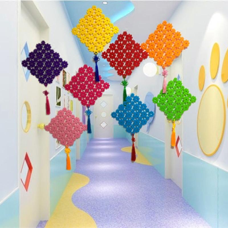 幼儿园吊饰教室走廊装饰环境布置节日店铺庆商场空中吊顶挂饰扇花