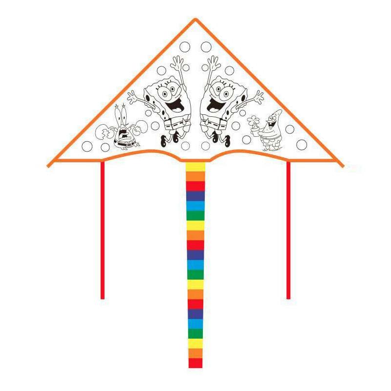 潍坊风筝diy空白风筝填色风筝儿童绘画手工涂色风筝风筝材料颜料