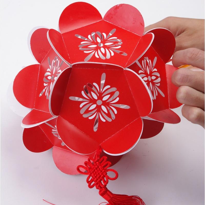 春节元宵新年2018儿童手工灯笼制作diy材料包手提发光玩具绣球