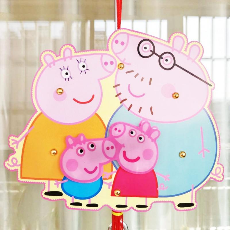 diy灯笼手工材料包 纸质卡通儿童手提灯笼 中秋节元宵