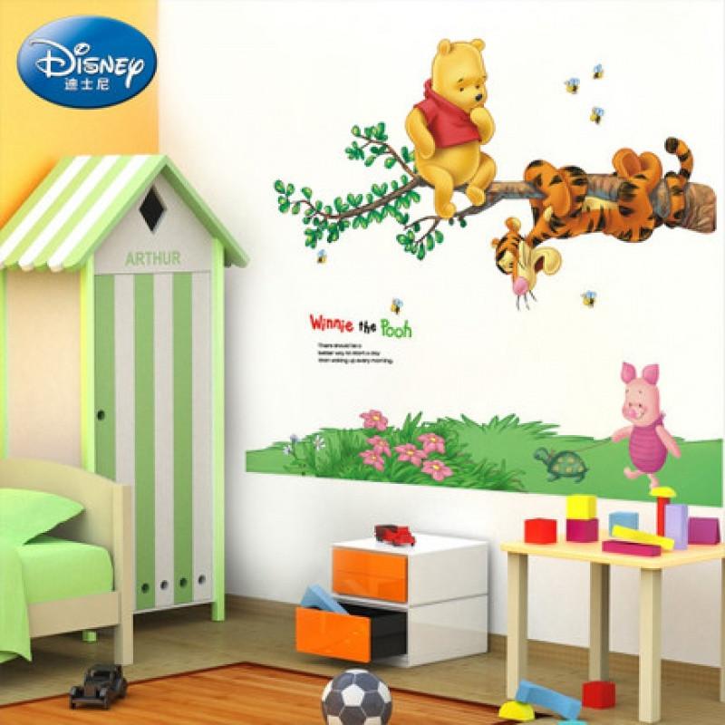 授权小熊维尼墙贴纸 儿童宝宝房间幼儿园教室装饰墙画