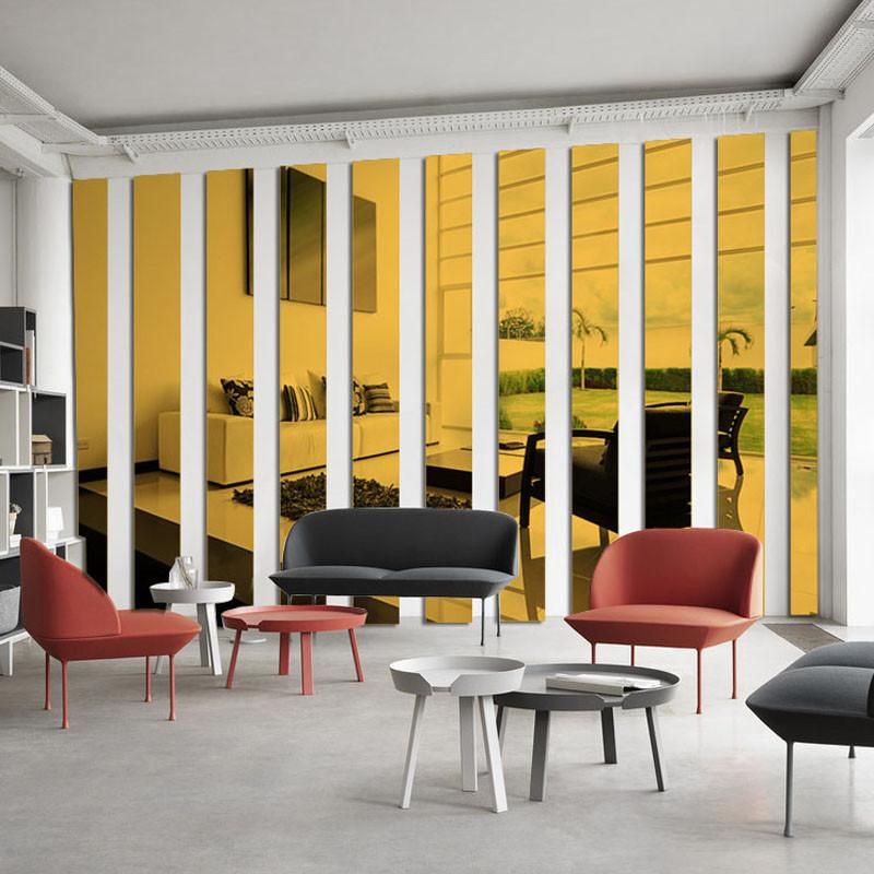 亚克力镜面墙贴条3d立体客厅电视背景墙装饰自粘边框条腰线