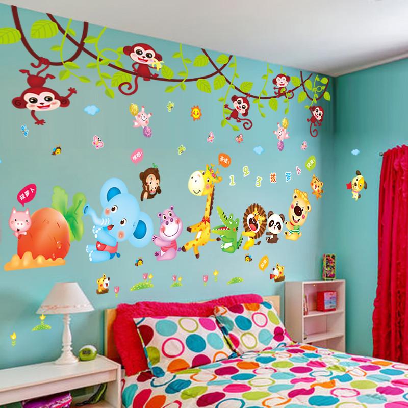 创意贴纸男宝宝儿童房间墙贴画幼儿园墙面装饰品卧室床头墙纸自粘
