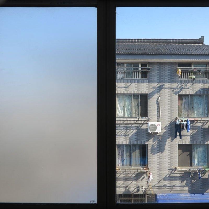 仿百叶磨砂玻璃贴膜浴室卫生间窗户玻璃贴纸办公室透光不透明窗贴