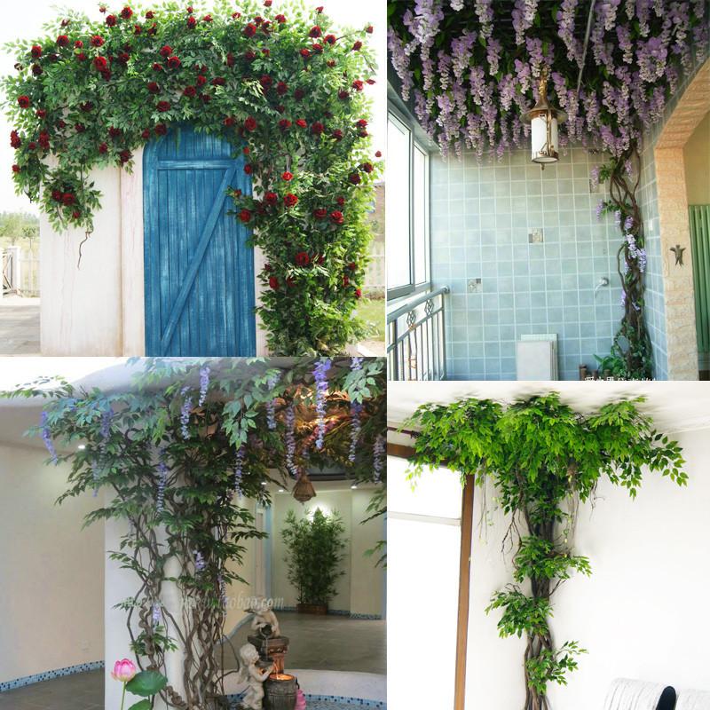 树藤枯藤藤条装饰假树枝仿真植物树叶子室内吊顶藤蔓绿植壁挂花藤