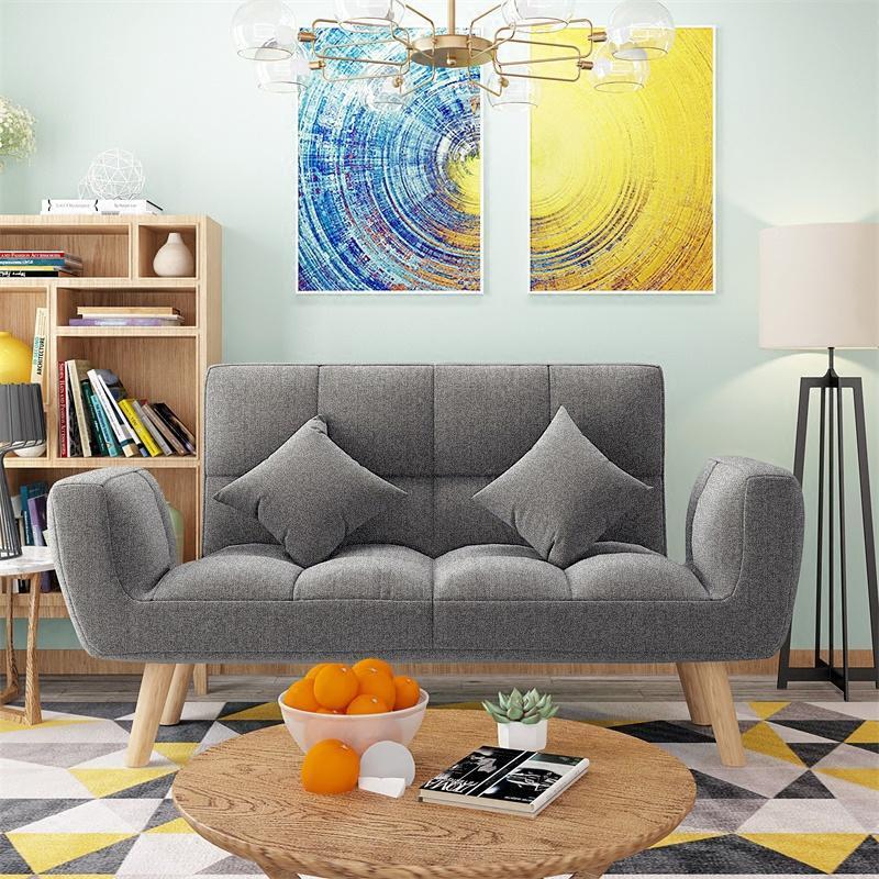 懒人沙发椅休闲卧室双人可拆洗折叠沙发床小户型客厅沙发椅图片