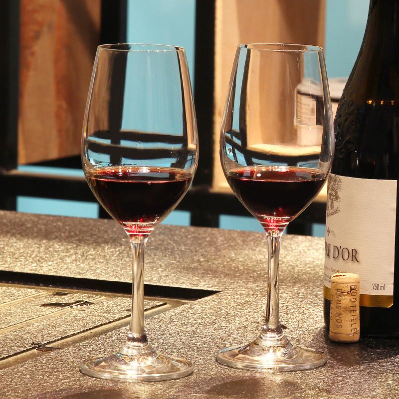 家用2只装红酒杯无铅水晶玻璃高脚杯葡萄酒杯品红酒酒具两只套装图片