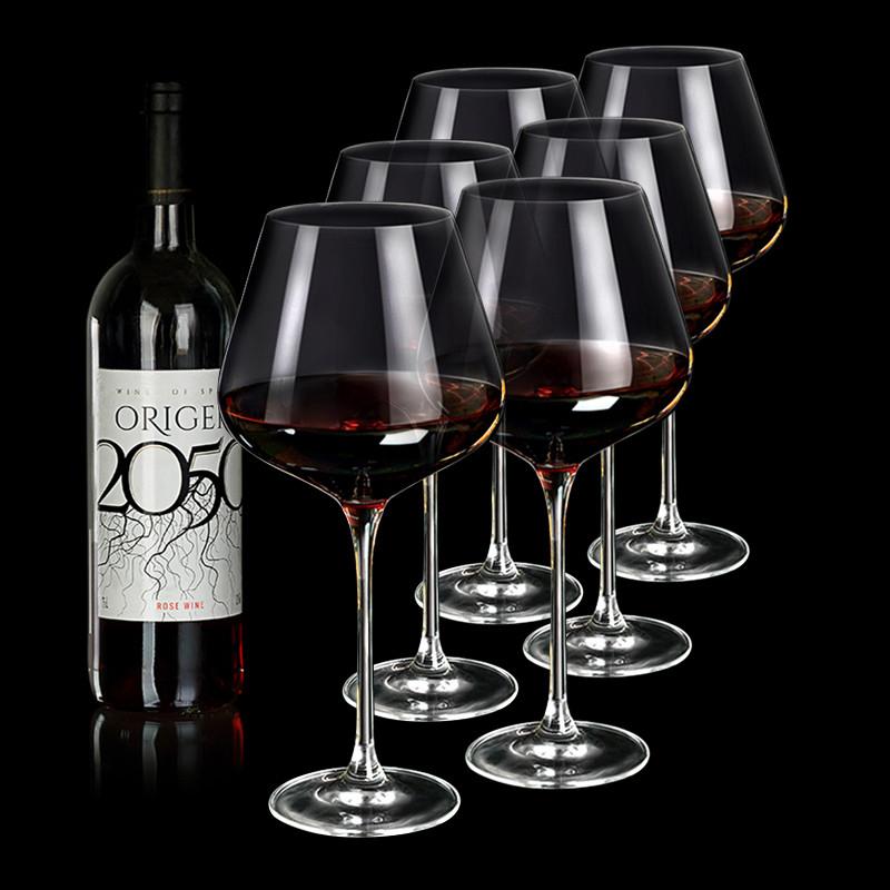 勃艮第酒杯手工制作水晶红酒杯大号高脚杯 品酒葡萄酒杯酒具套装