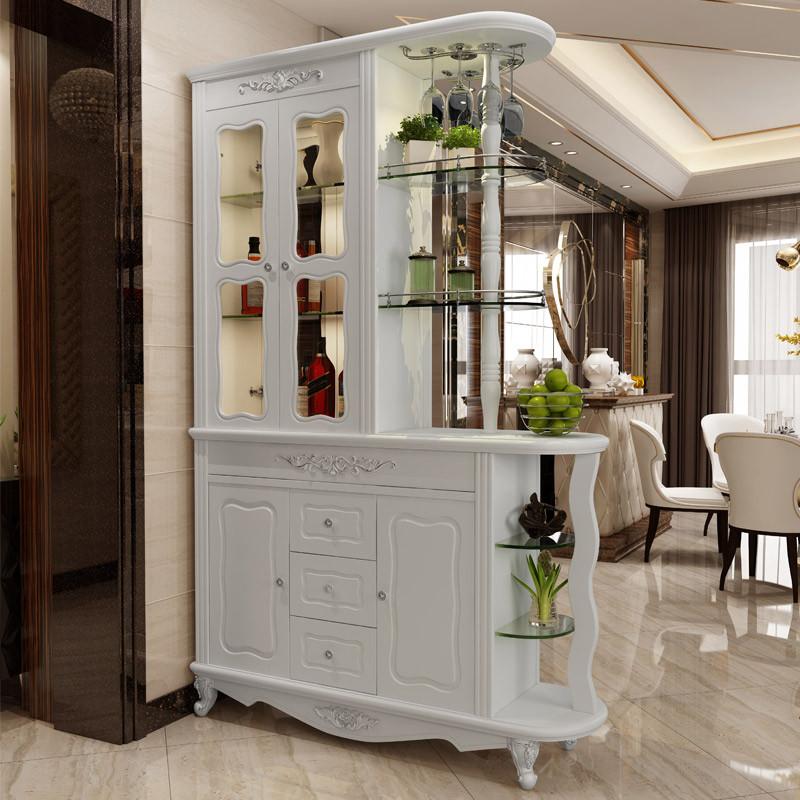 歐式客廳入戶玄關柜酒柜隔斷柜現代簡約雙面門廳柜進門鞋柜屏風柜