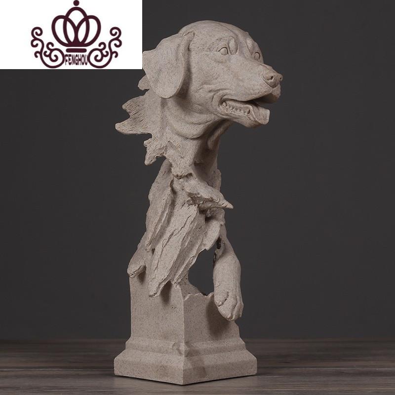 北欧现代简约狮子雕塑摆件动物艺术品 家居饰品客厅软装工艺品