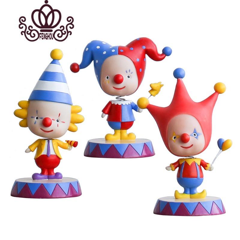 小丑q版摇头公仔创意可爱装饰品 客厅办公室玄关摆件