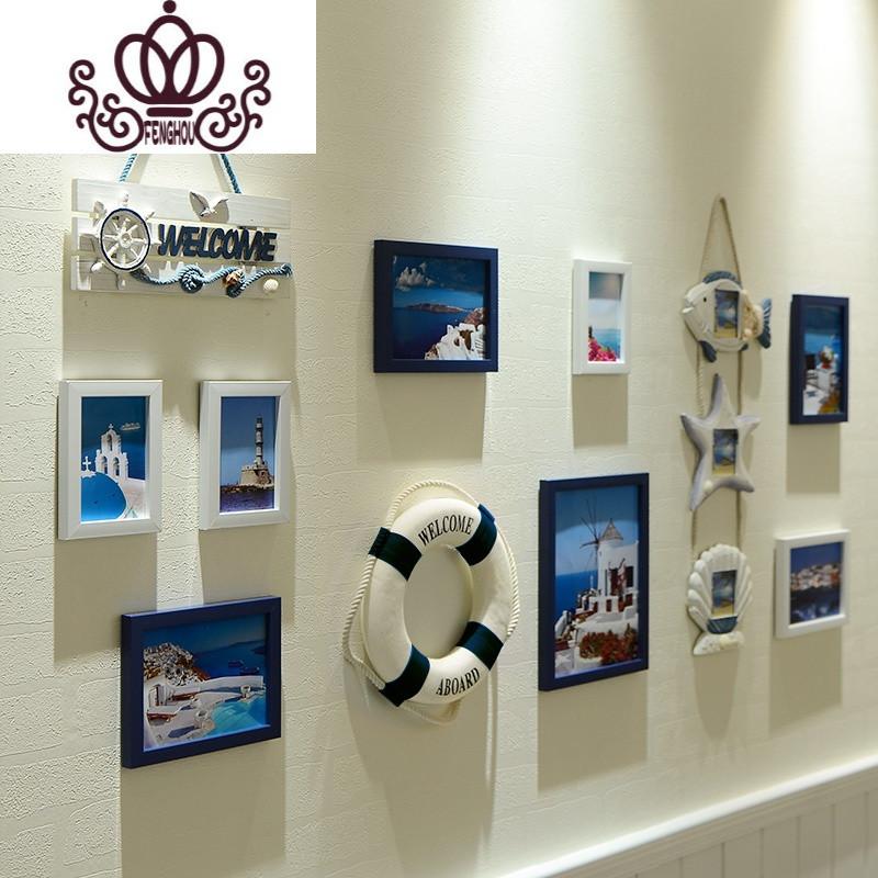 客厅照片墙相框墙创意组合客厅卧室儿童房地中海相框装饰简约挂墙