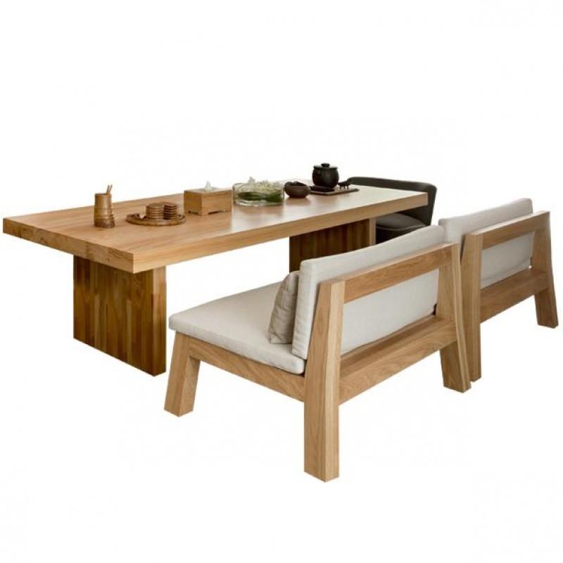 全实木新款餐桌椅组合工业风洽谈桌办公长桌泡茶桌靠背沙发厅桌