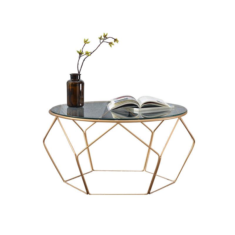 北欧茶几简约客厅小茶几圆形玻璃茶几茶桌茶台简易小户型创意家具