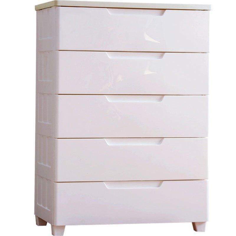 爱丽丝塑料儿童抽屉式衣服床头整理箱密闭收纳柜子衣柜
