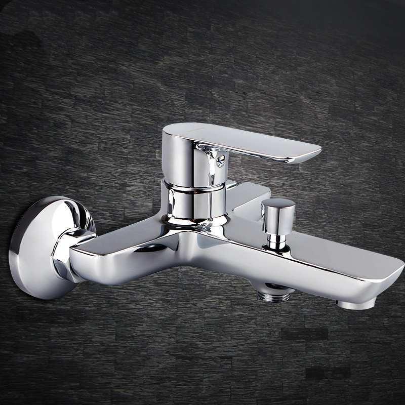 浴室卫生间冷热水洗澡淋浴花洒三联水龙头明装混水阀混合器浴缸混水阀图片
