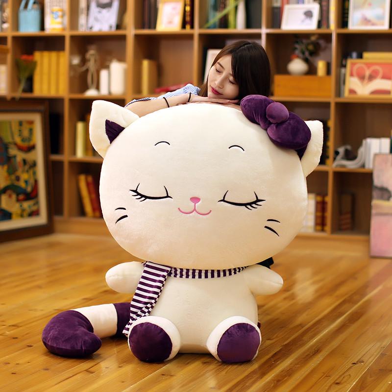 可爱超萌韩国猫咪抱枕公仔大号玩偶毛绒玩具女孩抱着睡觉的布娃娃