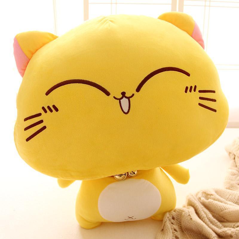 可爱铃铛猫公仔 微笑卖萌喵星人毛绒玩具猫咪布娃娃抱枕 生日礼物