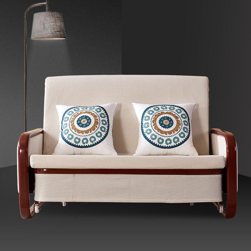 里伍折叠沙发床两用 小户型客厅书房小沙发 多功能布艺双人床图片