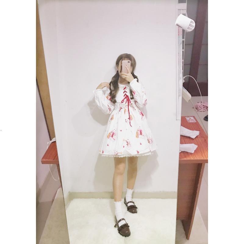 秋冬季日系可爱二次元cosplay服装女洛丽塔学院风学生软妹连衣裙
