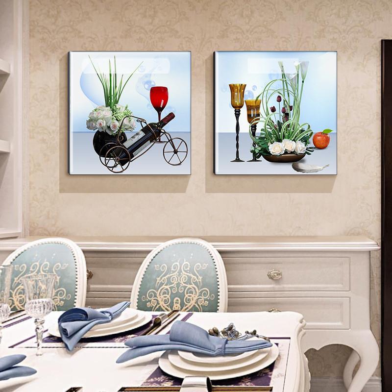 餐厅装饰画 清新水果简约二联挂画 饭厅餐厅墙面装饰图片
