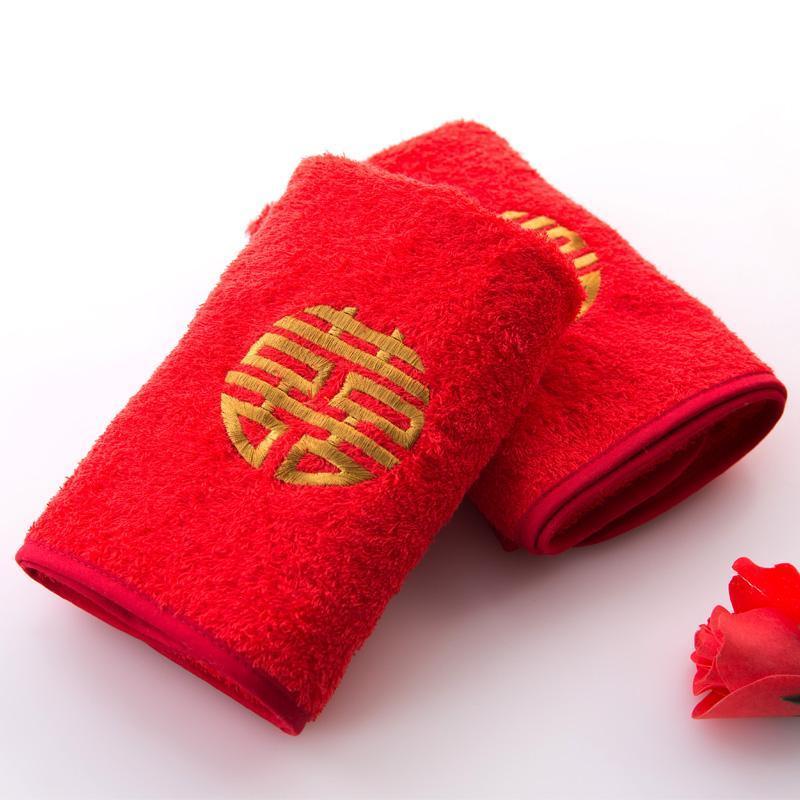 结婚毛巾纯棉