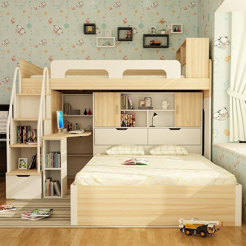 缴情成人小�_多功能儿童床学生小户型成人上下铺高低床双层床带书桌子母床