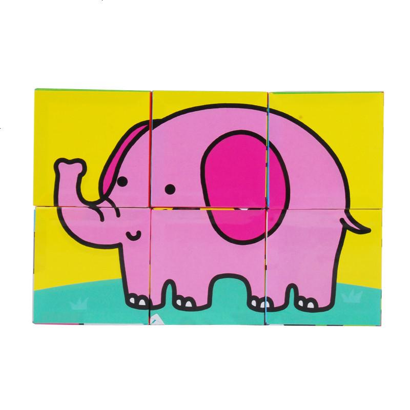 动物 交通立体拼图积木六面发声 儿童早教玩具