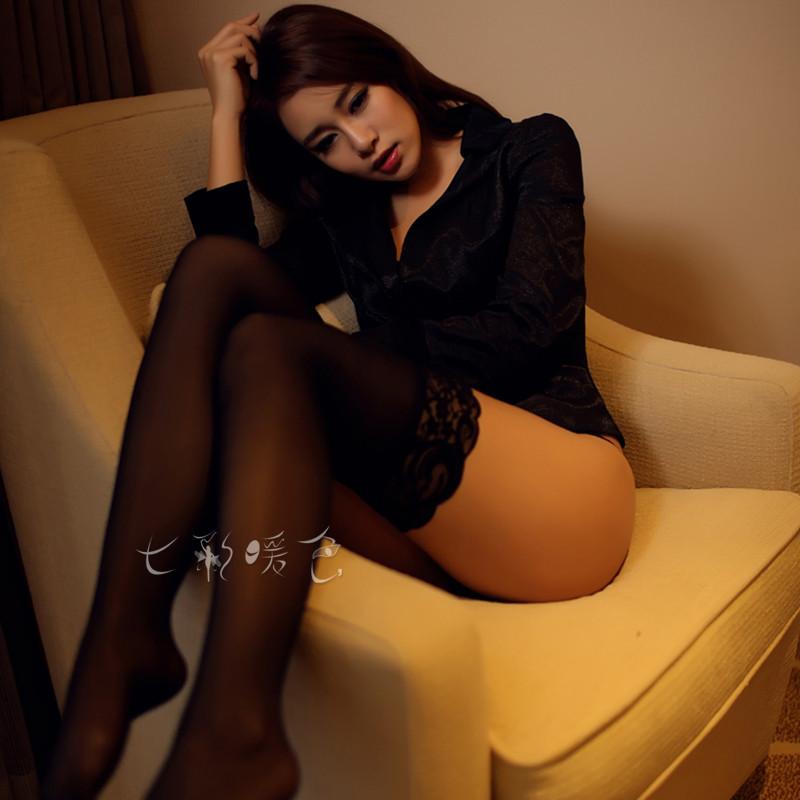 超薄丝袜情趣长筒蕾丝内衣激情套装开裆极度夜火透明透视超薄sm女