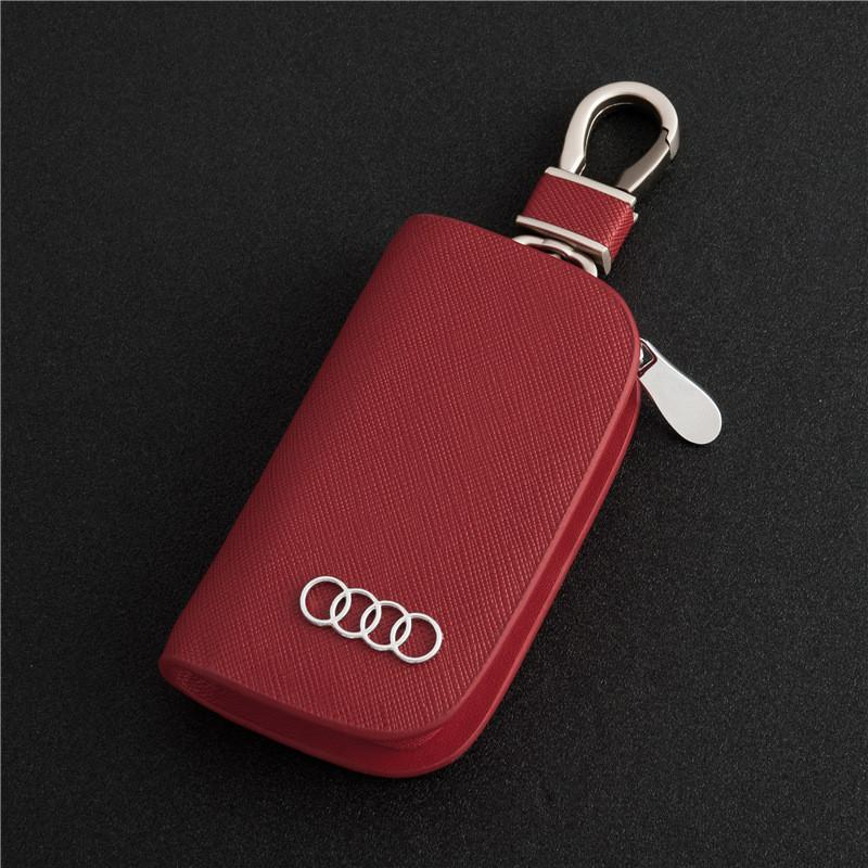 2017款奥迪a6la4la8a3lq3q5q7智能真皮汽车钥匙包套扣保护套男女
